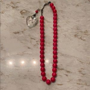 American Eagle Hot Pink Bead Necklace